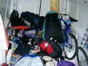 am ersten Tag noch organisiertes Chaos in unserem Wohnraum...