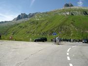 herrliches Panorama am Oberalp-Pass