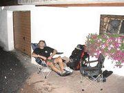 Relaxing im Camping-Fauteuil nach einem verhauten Wettkampftag
