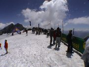 Die chillige Starting-Zone an der Dachstein Südwand